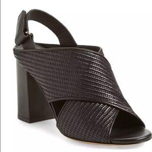 Vince FAINE Black Leather Slingback Heels SZ 8